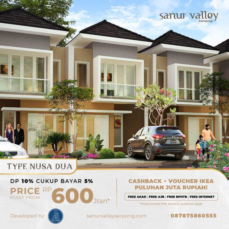 Miliki Rumah Impian di Sanur Valley @Serpong